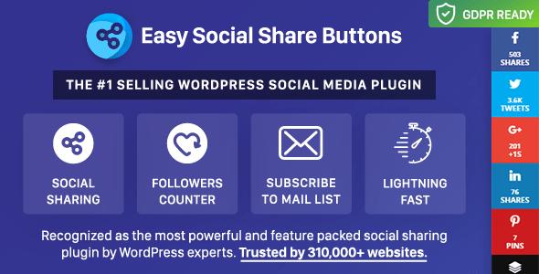 1533356593 easysocialshare - افزونه وردپرس نمایش دکمه شبکه های اجتماعی Easy Social share buttons
