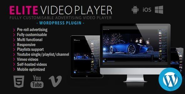 افزونه پخش ویدیو حرفه ای وردپرس Elite Video Player   افزونه پلیر ویدیو Elite video