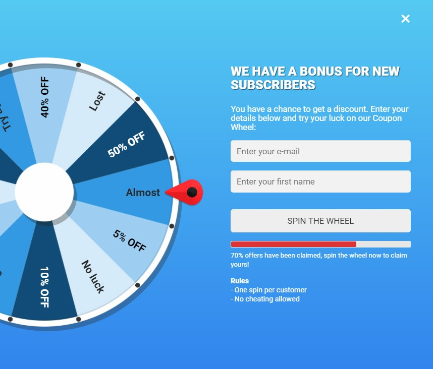 افزونه گردونه شانس ووکامرس coupon WHEEL Pro | افزونه ووکامرس دریافت کپن شانس