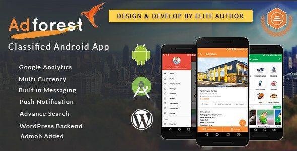 سورس اپلیکشن اندروید و iOS و قالب وردپرس Adforest