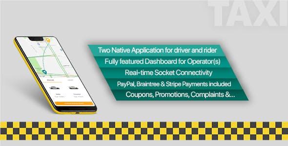 سورس اپلیکیشن تاکسی آنلاین مشابه اسنپ + پنل مدیریتی وب
