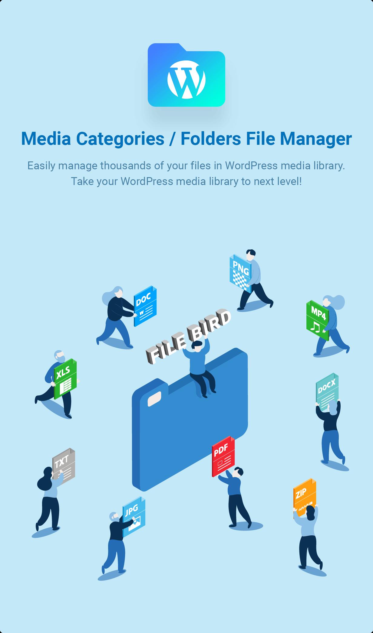افزونه وردپرس مدیریت فایل های وبسایت FileBird