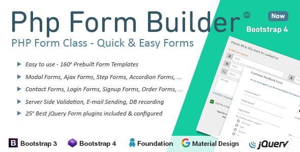 اسکریپت فرم ساز پی اچ پی | Php Form Builder