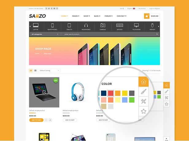قالب رسپانسیو فروشگاهی ووکامرس sanzo   بسته نصبی   آموزش تصویری